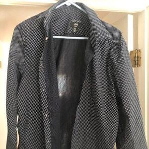 H&M Slim Fit Easy Iron Polka Dot Dress Shirt